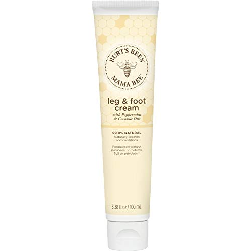 Burt's Bees Mama Bee Leg & Foot Cream with Peppermint Oil - 3.38 Ounce Tube (Pack of 2) (Packaging May - Foot Cooling Lotion