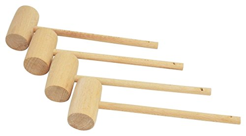 Wooden Crab (Southern Homewares Wooden Crab Mallet Seafood Lobster Shellfish Cracker Hardwood Hammer Set of 4.)