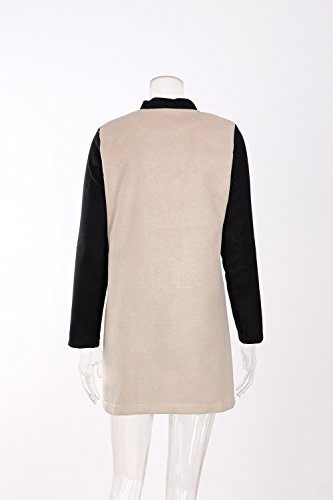 Larga Mujeres Invierno Pecho Jacket Outwear Khaki Solo Parka Abrigos Sudadera Vintage Mujer Otoño Abrigo Medium Largos Cárdigan Para Casual Moda Manga Un Elegant Chaqueta EHFqwXB8xw