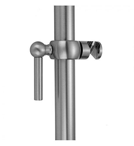 Pewter Jaclo SRSL32-PEW Cubix Adjustable Sliding Handshower Mount with Lever Handle