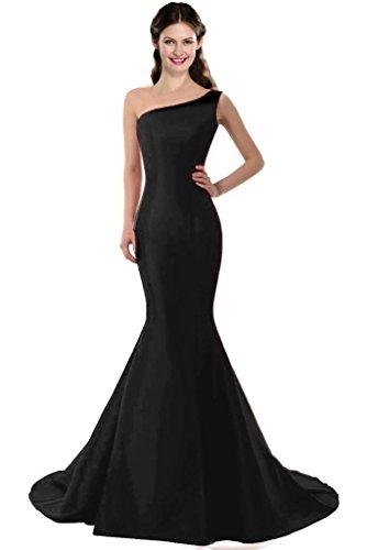 (Color E Dress Design Brief Elegant Mermaid One-Shoulder Evening Dress Size 2 Black )