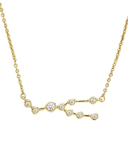 Sterling Forever Taurus Constellation Necklace - ?When Stars Align' Constellation Necklace, Gold Plated, Women?s Zodiac Necklace