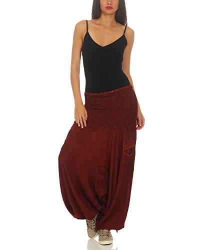 Femmes Aladdin Yoga Leena Pants 701 Bloomers Haremshose Harem Chestnut TFZ4qwI