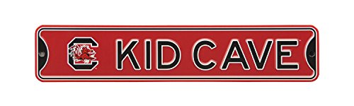 Authentic Street Signs NCAA College Officially Licensed STEEL Kid Cave Sign-Decor for sports fan bed room! … (South Carolina Gamecocks) -