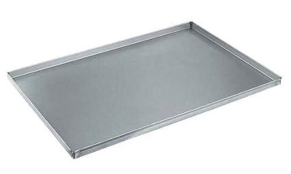 Ollas Agnelli Pastelería y Pizza Bandeja Rectangular de aleación de Aluminio 3003 con Dobladillo, Aluminio