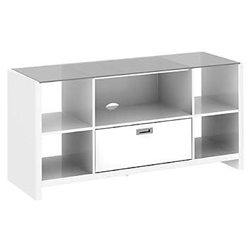 kathy ireland office by bush furniture new york skyline credenzatv stand plumeria white bush office furniture amazon