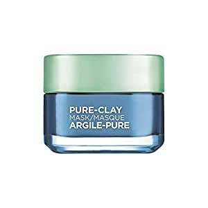 L'Oreal Paris Pure-Clay Cleansing Mask with 3 Mineral Clays + Seaweed Extract, Comforts and Unifies Sensitive Skin, 50 ml