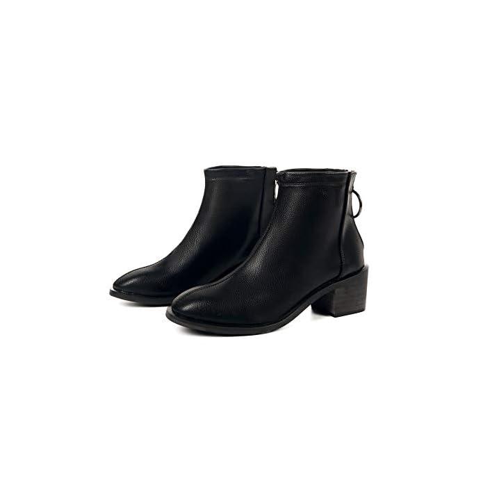 Hoesczs Scarpe Da Donna 9 20 Specials Martin Boots Autunno E Inverno New Pu Short Thick With The Back Zipper Negozio Fisico Walking Children