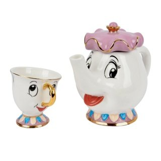 Set de Tetera Sra Potts + Taza Chip de La Bella y la Bes