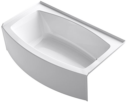 Great Deal! KOHLER K-1118-RA-0 Expanse 60 x 30 To 36 Curved Alcove Bath with Integral Apron, Tile...