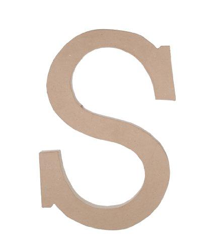 23.5 Inch Paper Mache Letter - Darice 2860-S Paper Mache, 23.5-Inch, Letter S