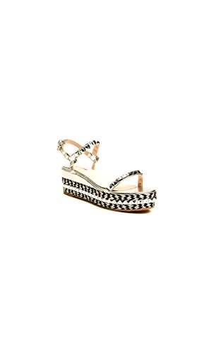 Ikrush Womens Flatforms Silver Studded Emmy Braided rrzPx