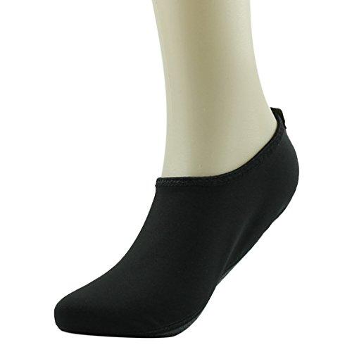 Home Slipper Barfuß Wasser Haut Schuhe Aqua Neopren Socken für Strand Pool Sand Swim Surf Yoga Schnorcheln Schwarz