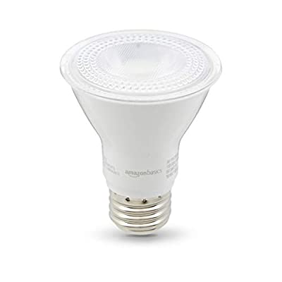 AmazonBasics Dimmable, 10,000 Hour Lifetime, PAR20 LED Light Bulb