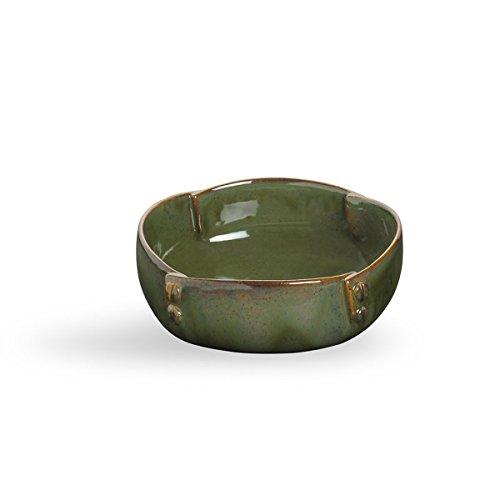 storeindya Ceramic Bowl/Pottery Bowl/Serving Bowl/Large Serving Bowl/Serving Bowls for Parties Handmade Dessert Salad Porcelain Kitchen Dining Serve ware Accessory (Green Screw Collection) ()