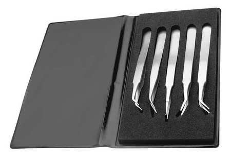 Tweezers Kit, SMD Kit, 4-3/4in