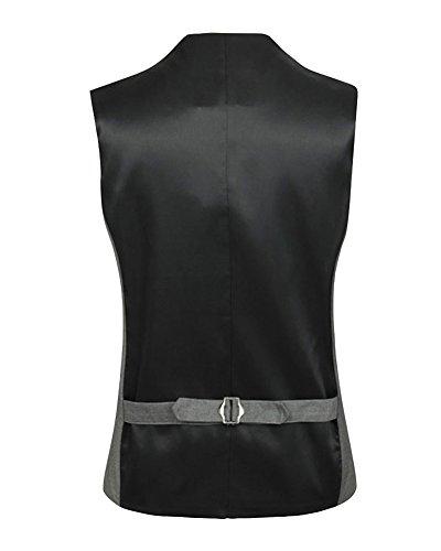Gilet Business Mariage De Sans Costume Manche Homme Casual Gris Veste r7q0r6