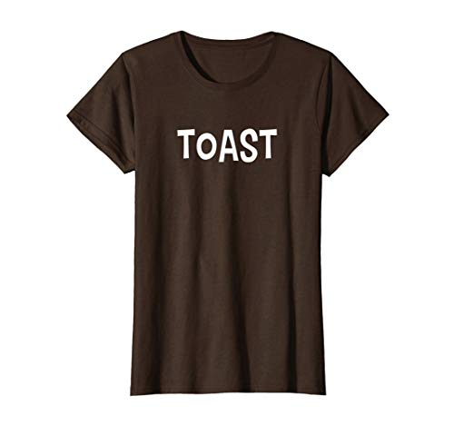 Womens Funny Bread Toast Halloween Costume Shirt Small Brown