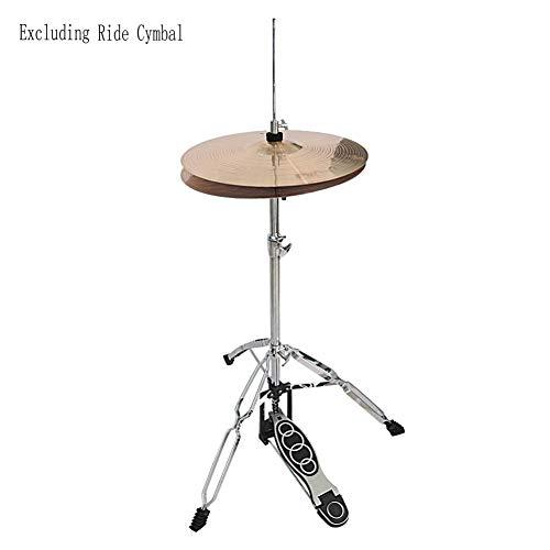 Ultra Light Cymbal Stand Retro Flat Base, Hi-Hat Stand-Flush Base Silver & Black ()