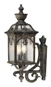 Light 3 Collection Belmont - Acclaim 7121BC Belmont Collection 3-Light Wall Mount Outdoor Light Fixture, Black Coral