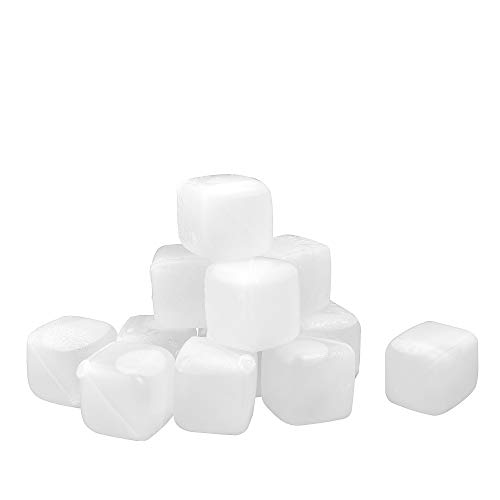 Dry Ice Cubes (Reusable Ice Cubes [HDPE Material, BPA Free, Dishwasher Safe] Cooling Meltless for Whiskey Wine Beer and Drinks 12)