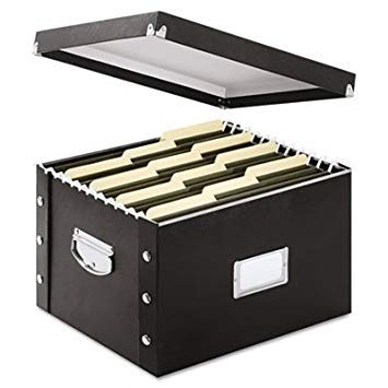 Snap N Store Storage Box, Letter/legal, 16 1/4 X 9 3/4 X 13 1/4, Black ()