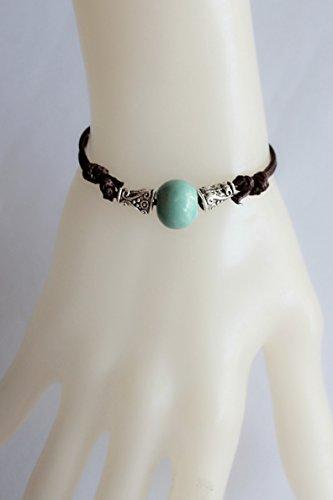 Blue Brocade Jewelry Hand-Rope Bracelet Bangle National Fan Art Girlfriend Girls Birthday Gift Retro Range