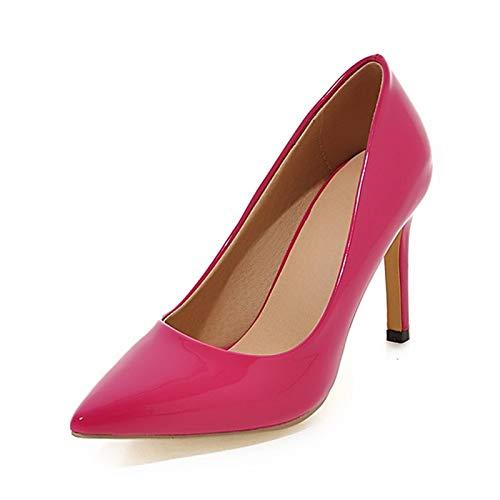 Bout Hauts 2018 6 Pointu Dame Talons Bureau Femme On Mince Plus 32 Taille La Pink Couleurs 42 Hoesczs Slip Chaussures Pompes Z8w4qq