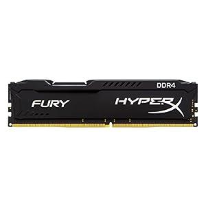 Kingston HyperX Fury Black 16GB Kit (4x4GB) 2400MHz DDR4 Non-ECC CL15 DIMM Desktop Memory (HX424C15FBK4/16)