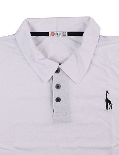 Shirts polo t h2h slim fit mens casual open revolve