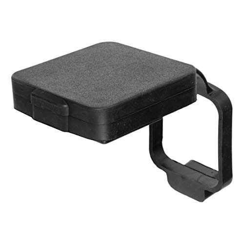 CURT 21728 Rubber Trailer Hitch Cover with 4-Way Flat Wiring Holder Fits 2-Inch Receiver