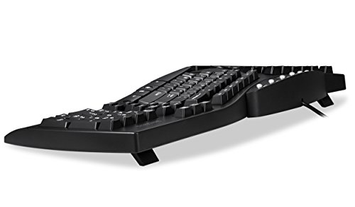 Perixx PERIBOARD-512 Ergonomic Split Keyboard - Natural Ergonomic Design - Black - Bulky Size 19.09x9.29x1.73