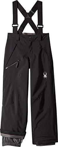 (Spyder Boys' Propulsion Ski Pant, Black/Black, Size 16)