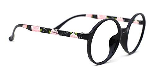 TIJN Womens Designer Tinted Round Eyeglasses Glamour - Glasses Glamour