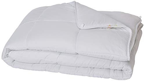 LINENSPA All-Season White Down Alternative Quilted Comforter - Corner Duvet Tabs - Hypoallergenic - Plush Microfiber Fill - Machine Washable - Duvet Insert or Stand-Alone Comforter - Twin (Bed Twin Duvet)
