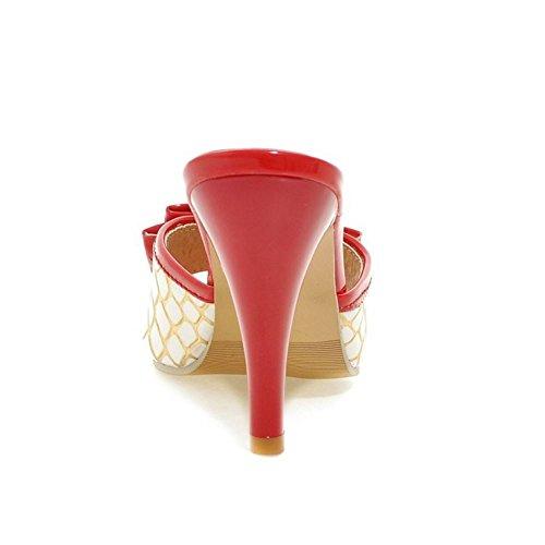 Donne Mode Mules Zanpa su red Sandali Scivolare Heels 2 6gqxxdzwS