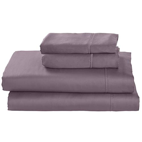 - Stone & Beam Wrinkle-Resitant 100% Tencel Bed Sheet Set, Queen, Mulberry
