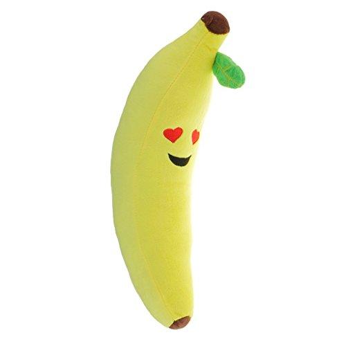 45cm Dolls - ZYAQ Banana Throw Pillow Plush Stuffed Emoji Emoticon Soft Cushion Toy Doll 45cm/17.7inch (Heart Eyes)