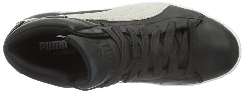 Puma 48 Mid GTX, Unisex Adults' Hi-Top Trainers Black (Black-vaporous Gray-vibrant Orange-white-aged Silver 01)
