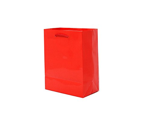 Singular Metallizing Party Gift Art Paper Bag (Set of 12) (L7'' x D9'' x W4'', Red) best for Christmas, Thanksgiving gift by Singular Metallizing Paper Corp.