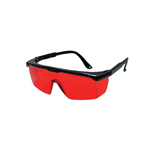 Bosch 57-GLASSES Laser View Enhancing Glasses with Adjustable Temple, Red Lens, Black - Red 57