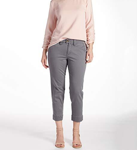 Jag Jeans Women's Creston Ankle Crop, Grey Streak, 10