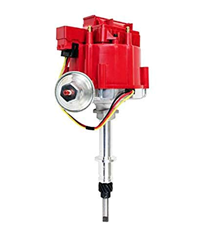 A-Team Performance Complete HEI Distributor 65K Coil 7500 RPM Compatible with Chevrolet Chevy GM GMC Truck Late Model Inline 6 Cylinder 230 250 292 One Wire Installation Red Cap ()