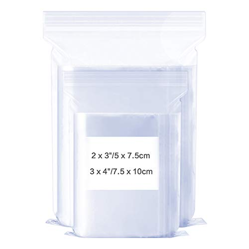 Plastic Poly Zipper Bag Crafts 4 X 6 Inch, Clear Poly Zipper Bags Resealable Ziplock Storage Plastic Bag for Jewelry Pack of 1200