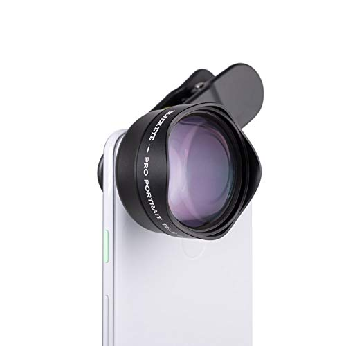 Phone Lenses by Black Eye || Pro Portrait Tele Photo G4 Phone Camera Lens Compatible with iPhone, iPad, Samsung Galaxy, and All Camera Phone Models - G4TE001