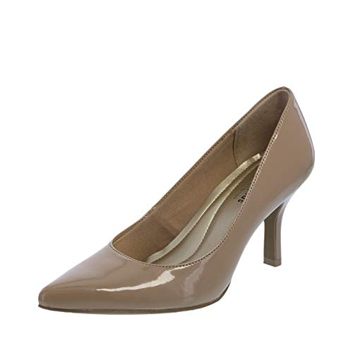 Predictions Comfort Plus Nude Patent Womens Janine Pointy Toe Pump 7 Wide