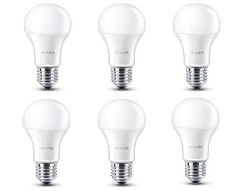 Philips bombilla led luz blanca c lida 60 w casquillo for Luz blanca o calida