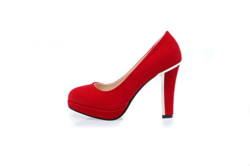 Pumps Womens Frosted Heel Cut Red Electroplate Uppers Shoes Platform BalaMasa Low Swd0q8CCx