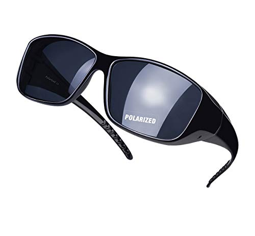 Handsun Black Polarized,Vintage Sunglasses for Men/Women,100% UV protection.