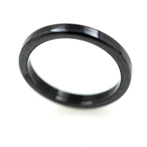Bague alliance anneau Hématite noire 3 mm - 58